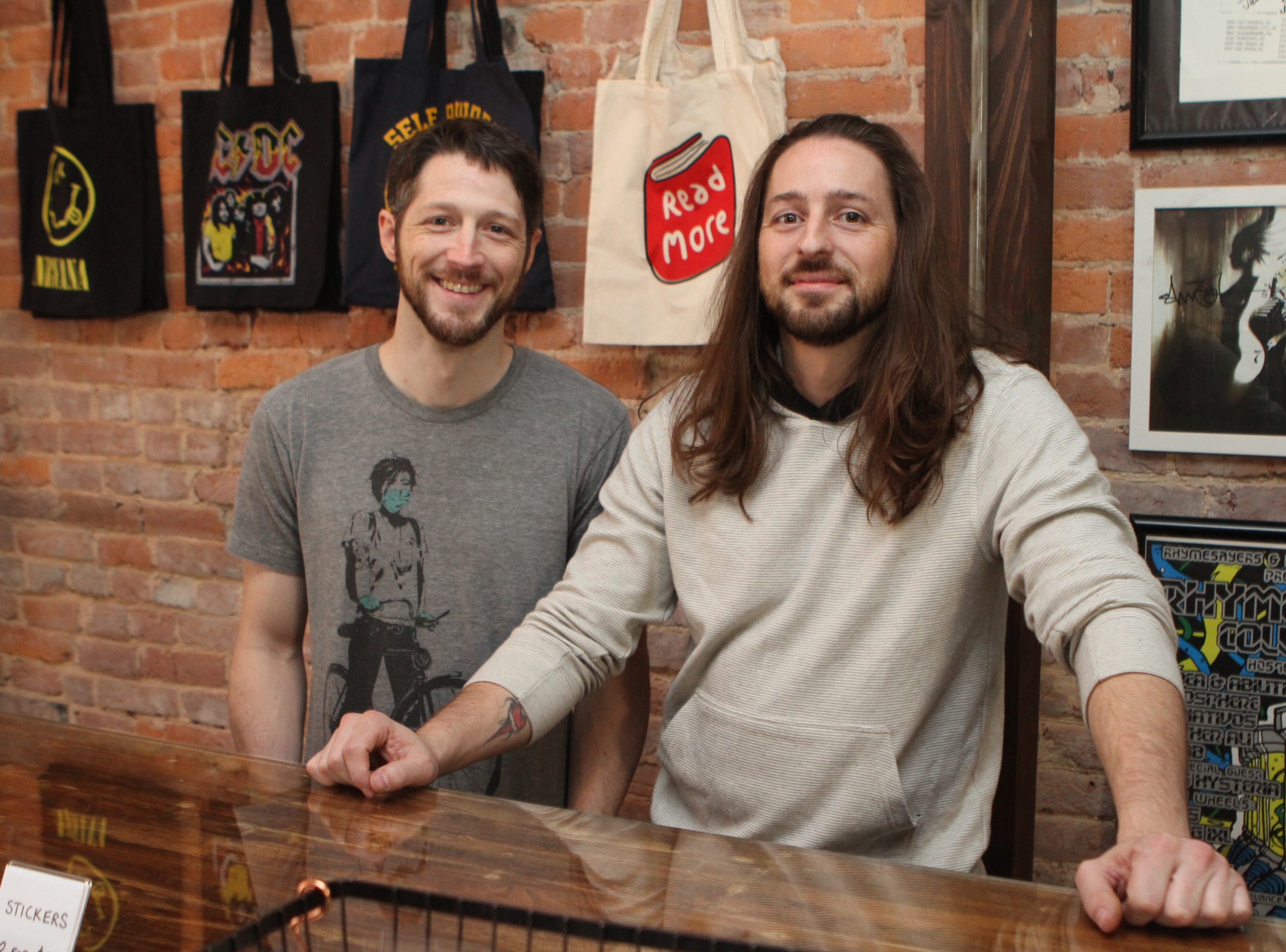 Matt and Tony Shrum of AndVinyl, a shop selling new and used records, which has its grand opening on Saturday, Nov. 24, during Small Business Saturday.