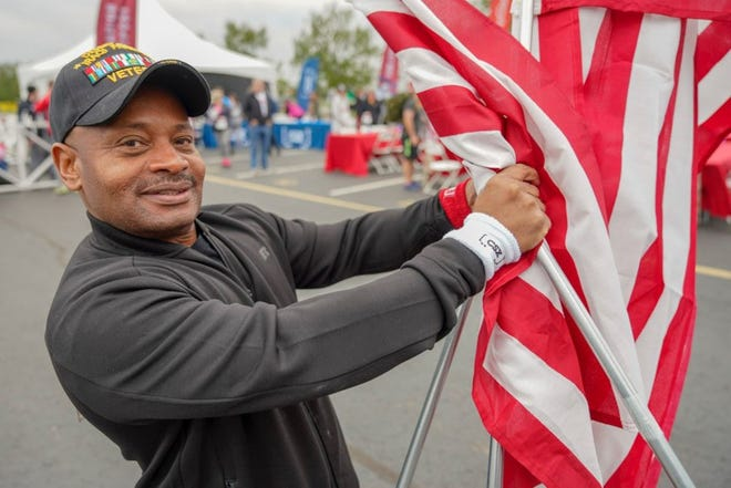 Veteran participating in the recent Nashville Wounded Warrior Project Carry Forward 5K, sponsored by CSX.