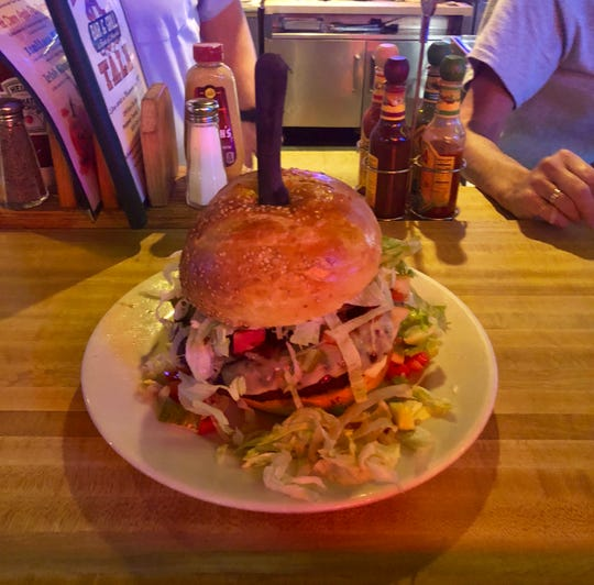 Tiger's Tale's burger challenge.