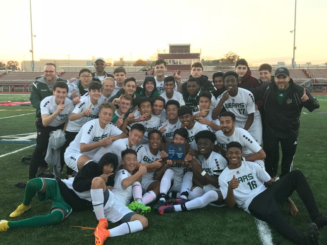 The East Brunswick boys soccer team won the Central Group IV sectional title with a 1-0 victory over Hunterdon Central on Thursday, Nov. 8, 2018.