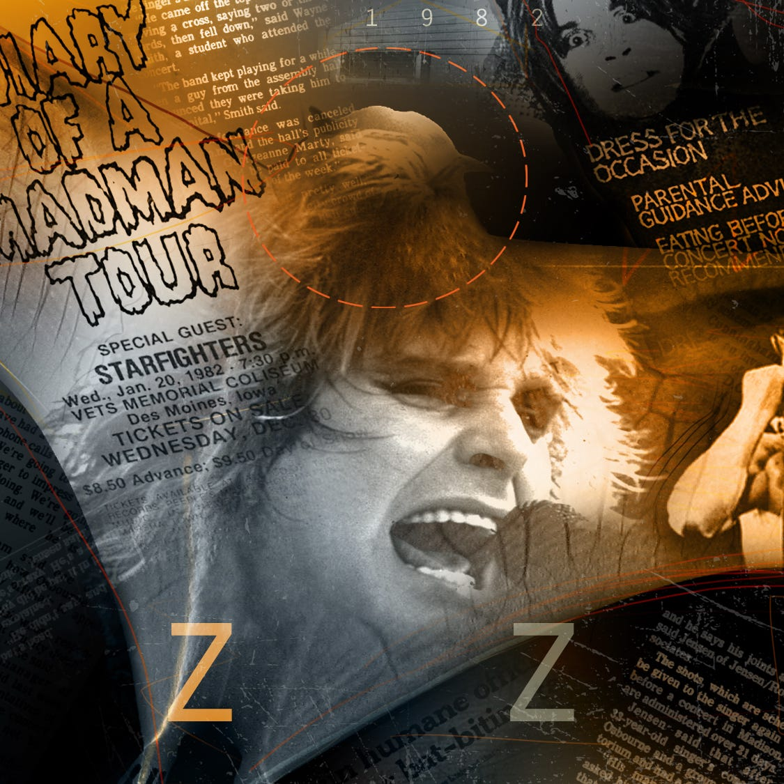 What led to Ozzy Osbourne infamously biting the head off a bat in Des Moines?