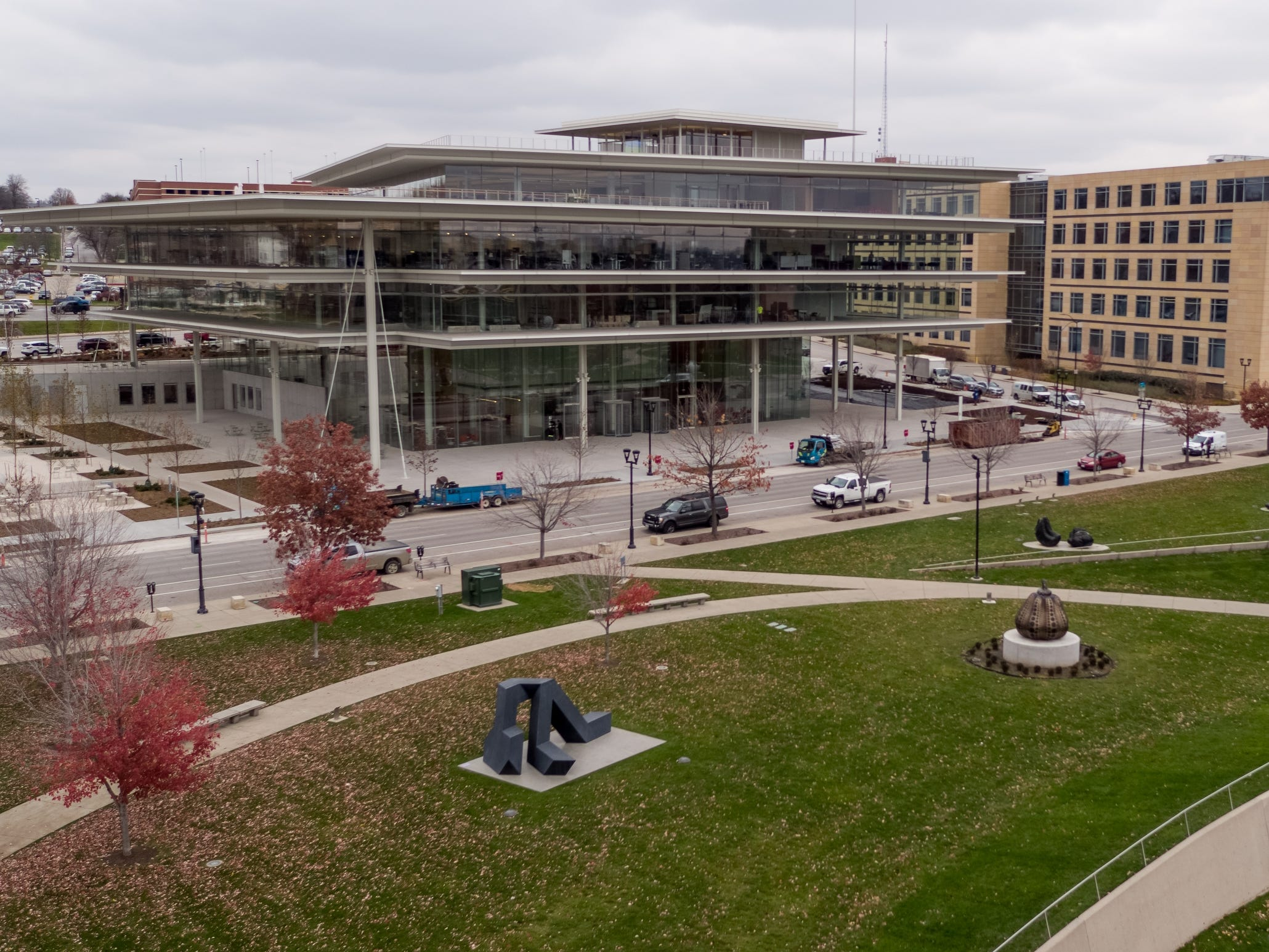 The nine Krause family businesses will now be located in the new Krause Gateway Center downtown on Friday, Nov. 9, 2018, in Des Moines.