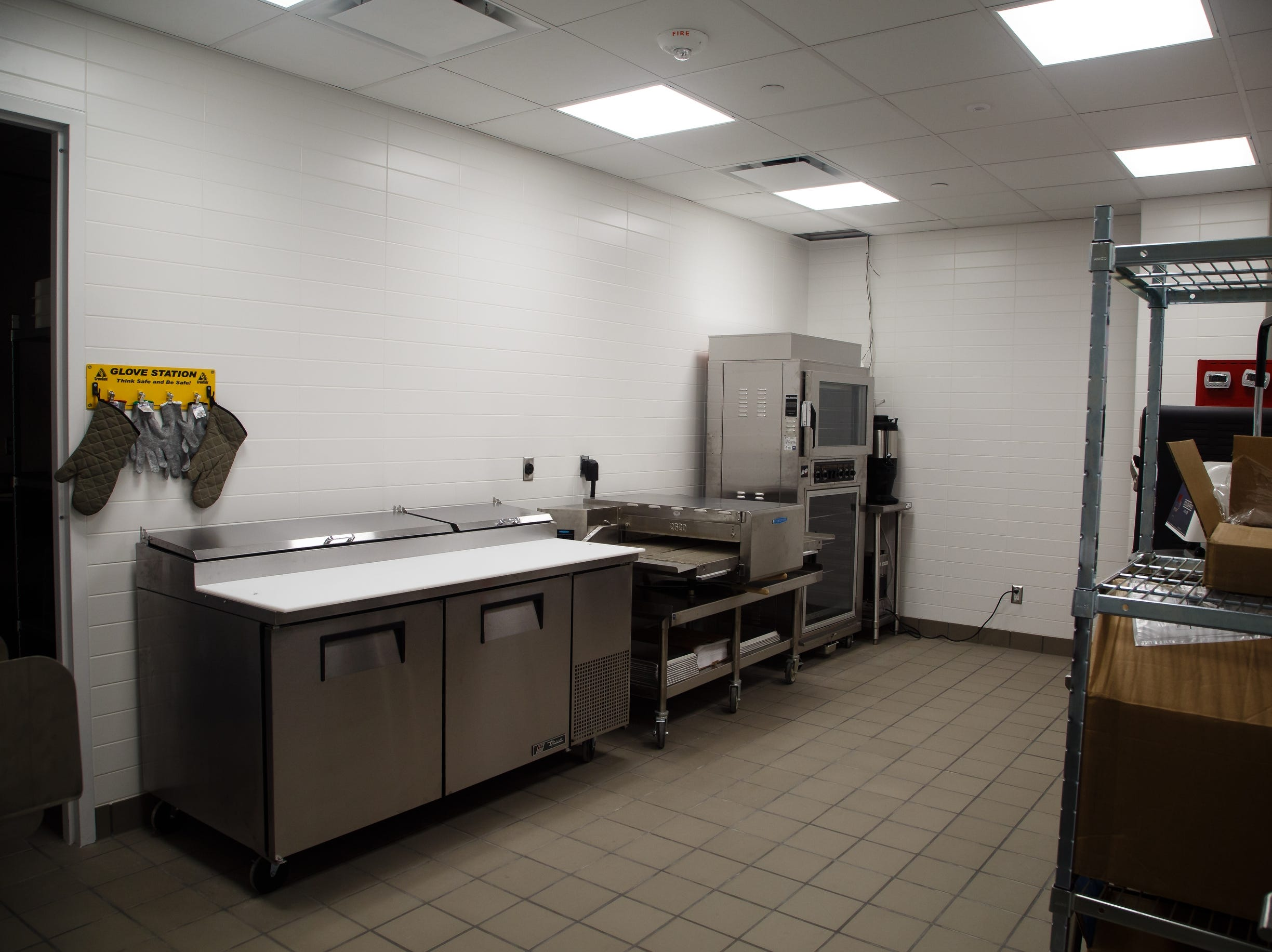 The test kitchen inside the new Krause Gateway Center downtown on Friday, Nov. 9, 2018, in Des Moines.
