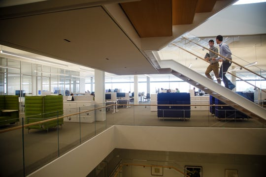 Employees from nine Krause family businesses work out of the new Krause Gateway Center in downtown Des Moines.
