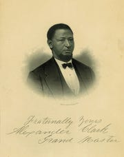 Engraved portrait of Alexander Clark, Muscatine lawyer who initiated an Iowa Supreme Court case to allow his daughter to attend the white-only public school, and U.S. Ambassador to Liberia. Engraving by Augustus Robin, New York. Photo courtesy of the State Historical Society of Iowa, Des Moines.