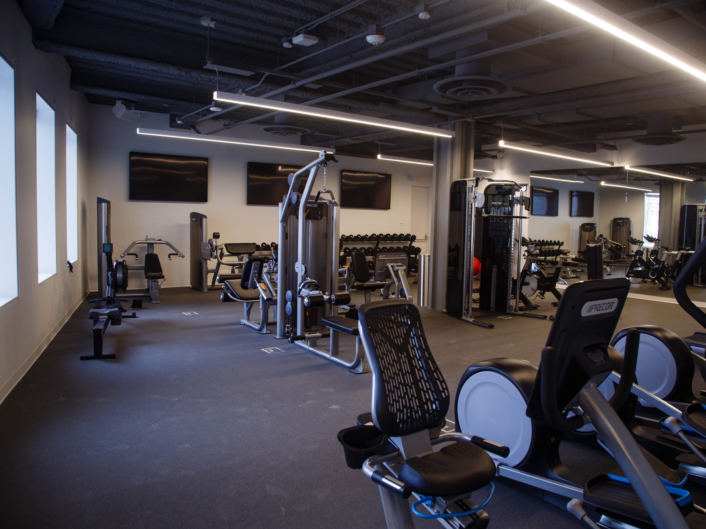 The fitness center inside the new Krause Gateway Center downtown on Friday, Nov. 9, 2018, in Des Moines.