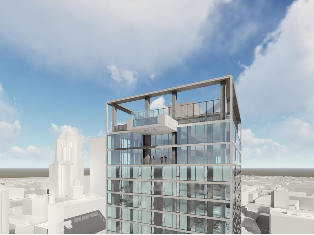 Des Moines-based Blackbird Investments plans a 33-story apartment tower at 515 Walnut St.
