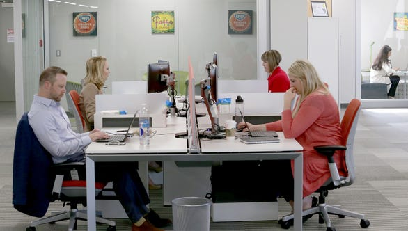 Employees at Kelly's Troy HQ enjoy a workplace that accommodates the various work style preferences of the modern workforce.