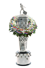 The famous Borg-Warner Trophy™ weighs in at 110 pounds of sterling silver.