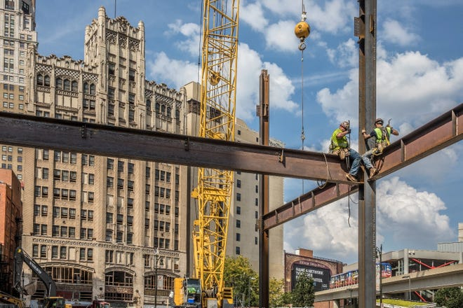 Detroit is experiencing a construction boom that the city hasn't seen in decades, with billions of dollars earmarked for a variety of projects set to be completed by 2028.