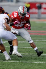 Detroit Cass Tech product Mike Weber is part of a potent 1-2 rushing punch for Ohio State.