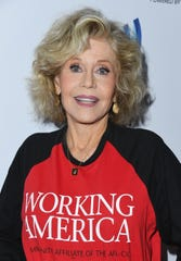 Actress Jane Fonda, seen Nov. 5 at the Telethon For America in Los Angeles, has been campaigning for the One Fair Wage initiative for two years.