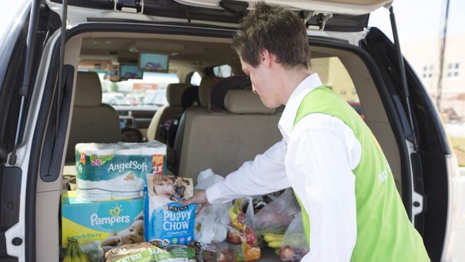 Walmart expanded online pickup to Fremont store.