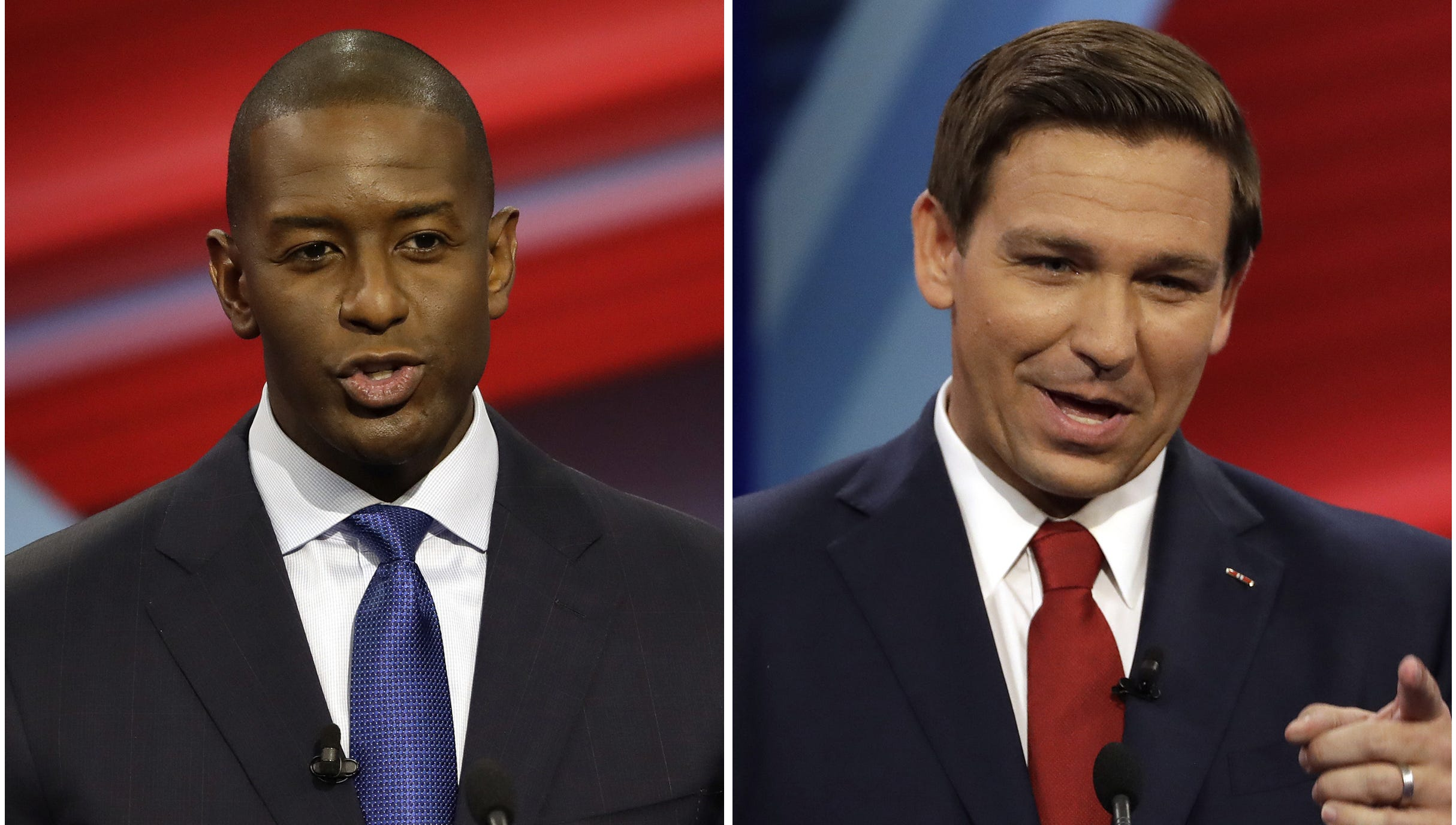 Polls have consistently shown a tight race in Florida between DeSantis, a loyalist to President Donald Trump, and Tallahassee Mayor Gillum.