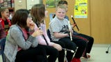 Wrightstown Elementary School fourth-graders learn to play the recorder, and teacher Stacy Juelich made sure her limb-different student could, too.
