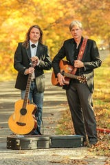Martin McCormack, left, and Brian FitzGerald of Switchback. The Celtic/Americana duo returns to Door County for a Nov. 16 concert at Southern Door Community Auditorium.