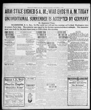 Page 2 of the Press-Gazette on Nov. 11, 1918