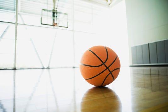 Basketball On Court