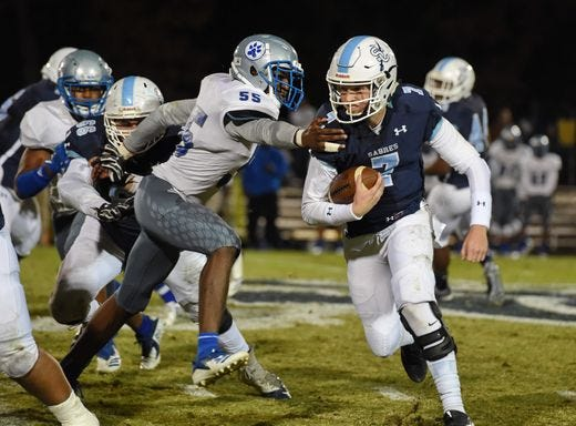 Southside Christian defeated Silver Bluff , 35-7, Thursday night in the first round of the Class AA high school football playoffs.