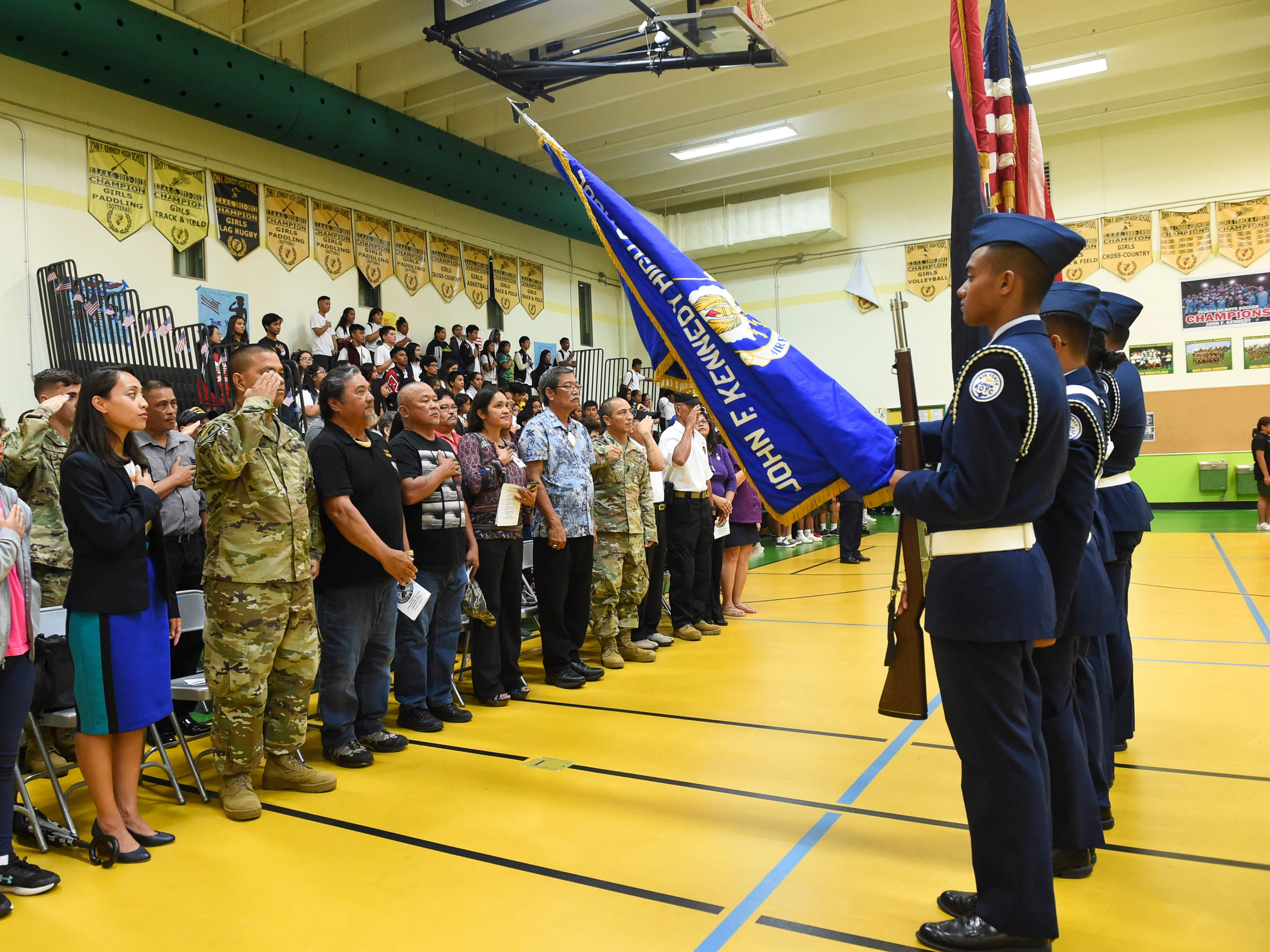 Veterans were honored during John F. Kennedy High School's Veterans Recognition Ceremony in Tamuning, Nov. 9, 2018.