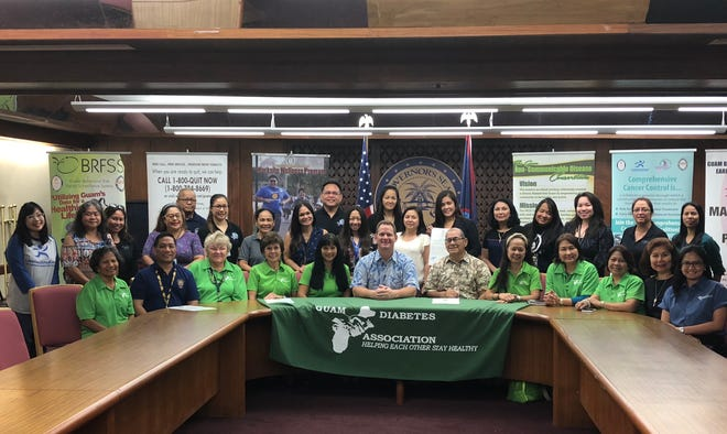 Lt. Gov Ray Tenorio signs a proclamation to declare November as Diabetes Month.