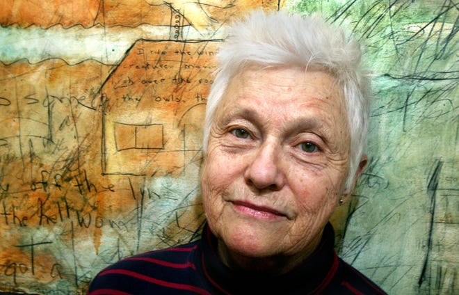 Abstract artist Lois Main Templeton, shown here at age 79, graduated from Herron School of Art in 1981.