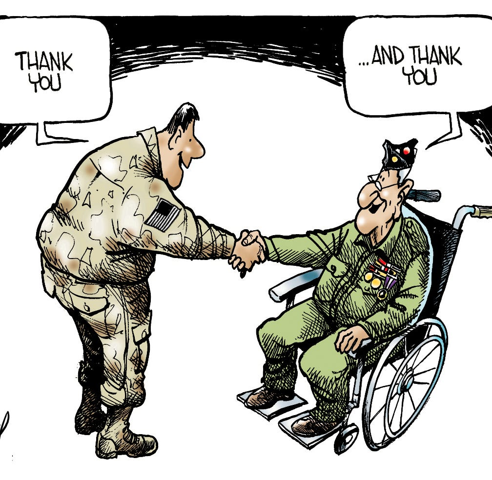 Cartoonist Gary Varvel: Thank a veteran today