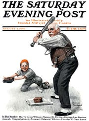 Classic Norman Rockwell is clearly derivative of earlier Leyendecker work.