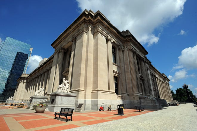 The Birch Bayh Federal Building and U.S. Courthouse in Downtown Indianapolis opened in 1905.