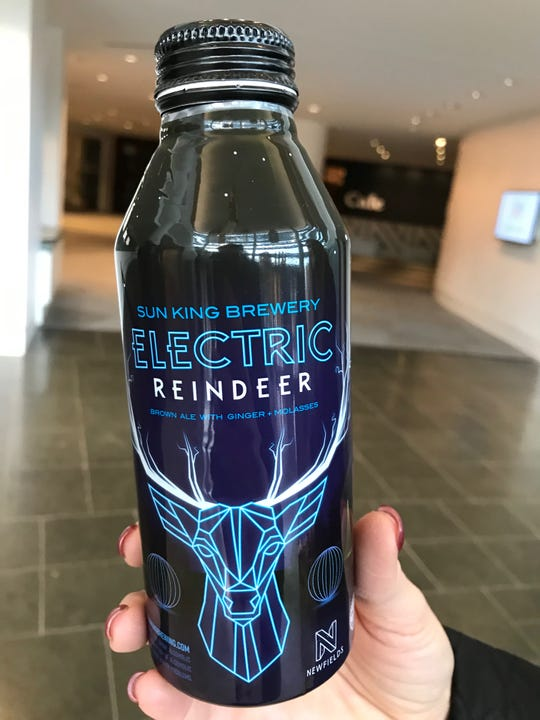 Electric Reindeer is a new brown ale with ginger and molasses. Sun King Brewery partnered with Newfields to create the brew.