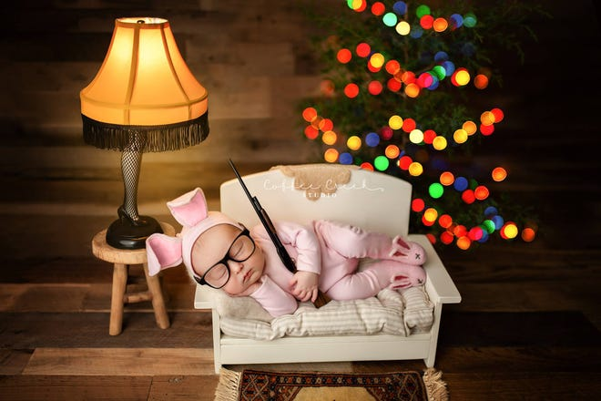 "Central Indiana photographer Amy Haehl posted this ""Christmas Story""-themed photo to her Coffee Creek Studio Facebook page on Tuesday."