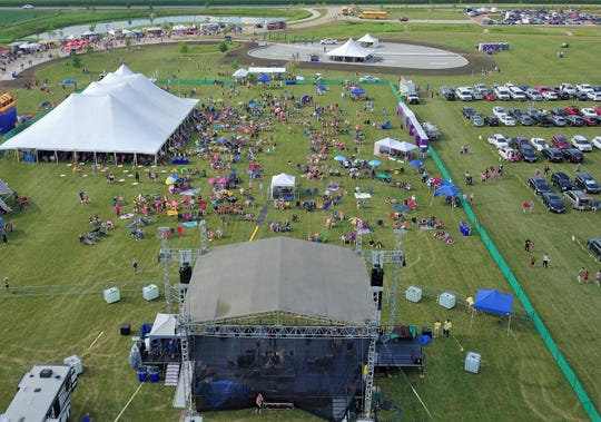 Drones have opened up amazing new perspectives in media production, such as this aerial photo taken by Flyover Productions during last summer's North Liberty Blues & BBQ festival.