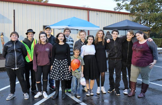 HomeAcademy students Ian Parkerson, Zack Parkerson, Kailey McKee, Jeremiah Joyner, Harley Adams, Connor Adams, Micah Parkerson, Nathan Parkerson, Kara McKee, Sarah Gabert, Nick Zeto, Andrew Floyd and Kennedy McKee enjoyed activities during the third annual Fall Festival Nov. 2, 2018, at HomeLife Academy in Jackson.