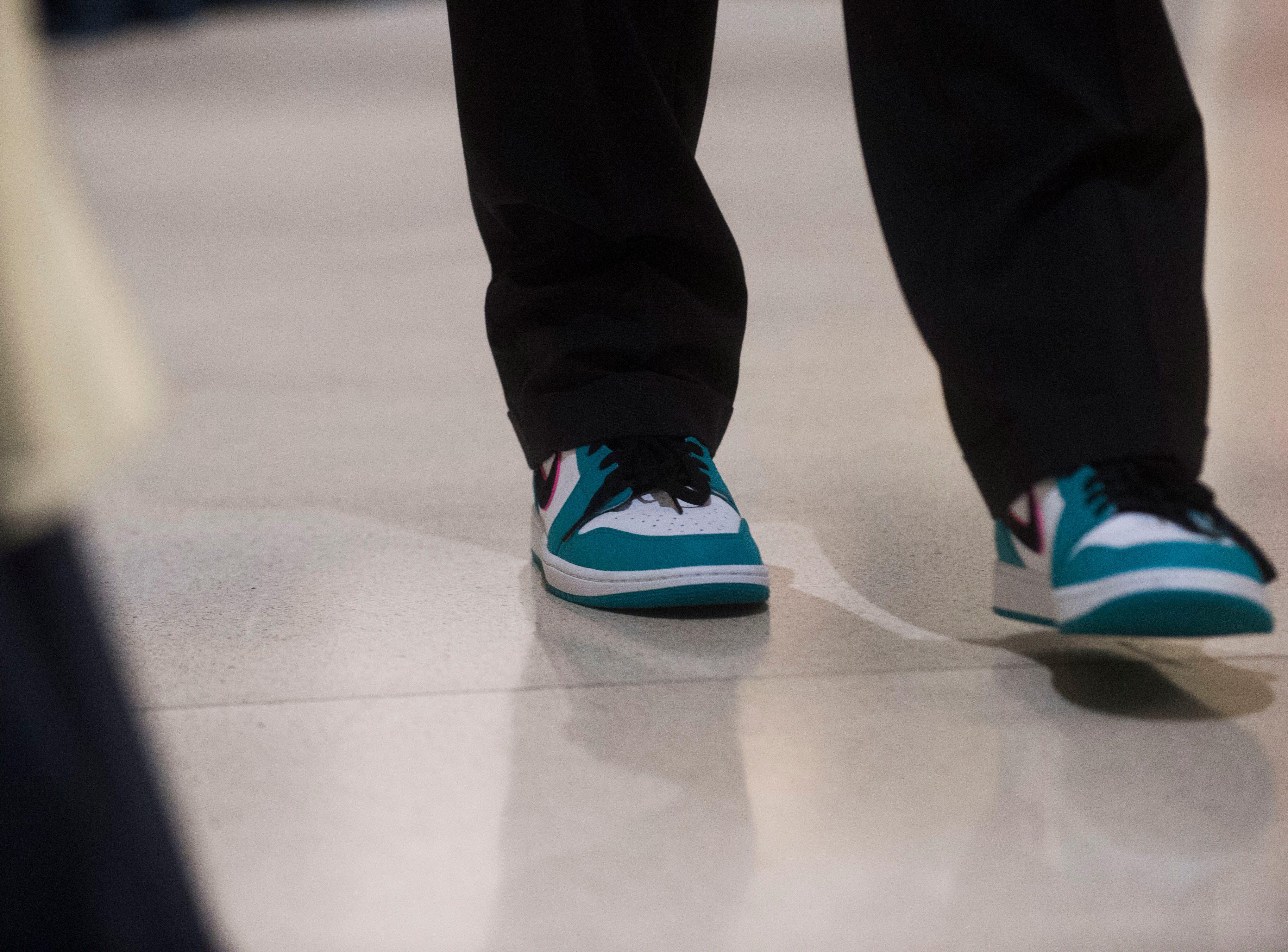 20 under 20 award winner Chase Strickland walks at the Women's Basketball Hall of Fame Thursday, Nov. 8, 2018.