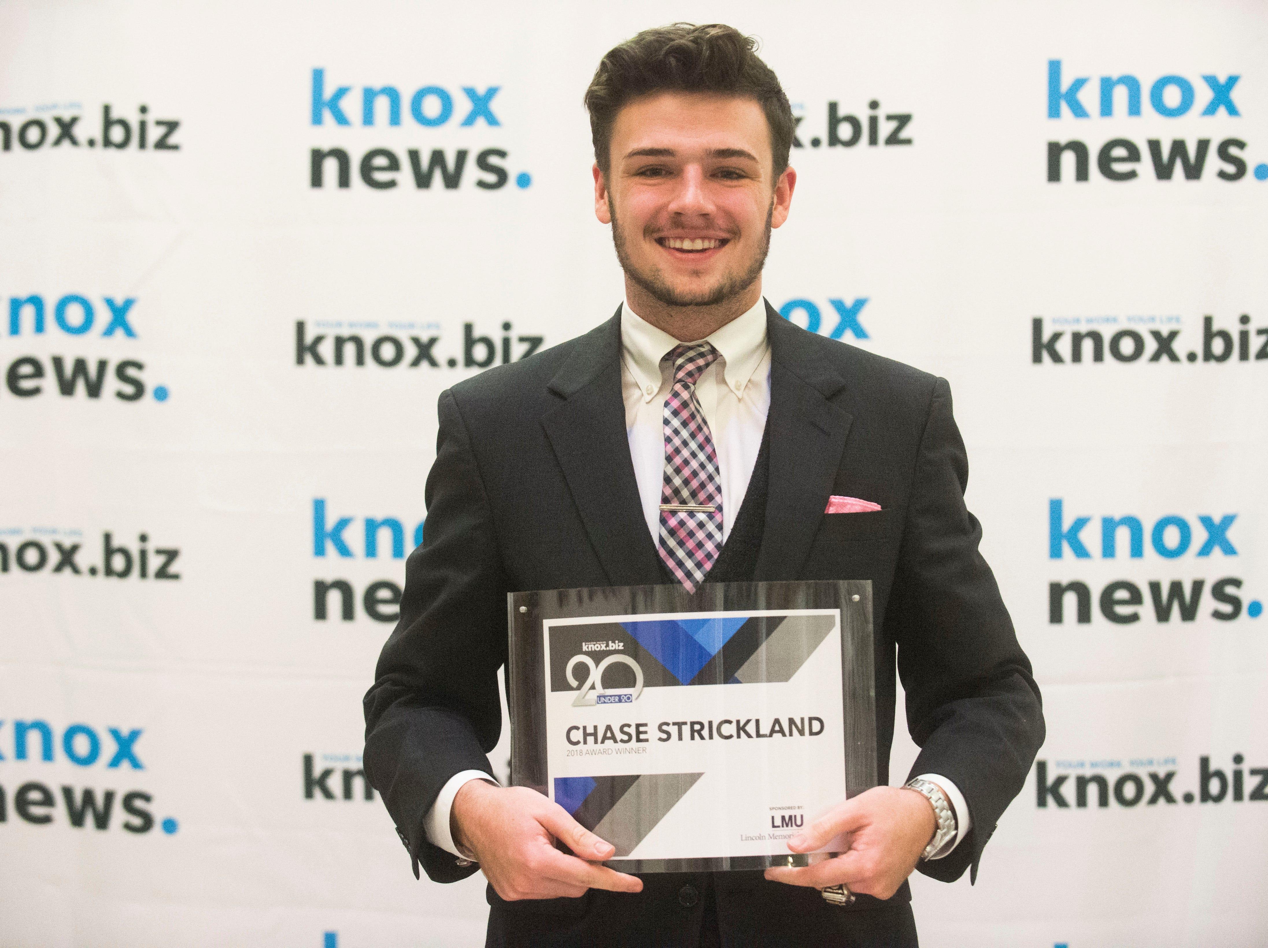 Chase Strickland, 20 under 20 award recipient.