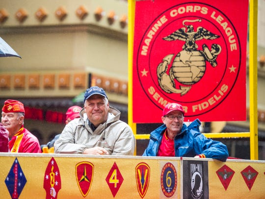 Knoxville's 93rd Veterans Day Parade parades down Gay St. in downtown Knoxville on Friday, November 9, 2018.