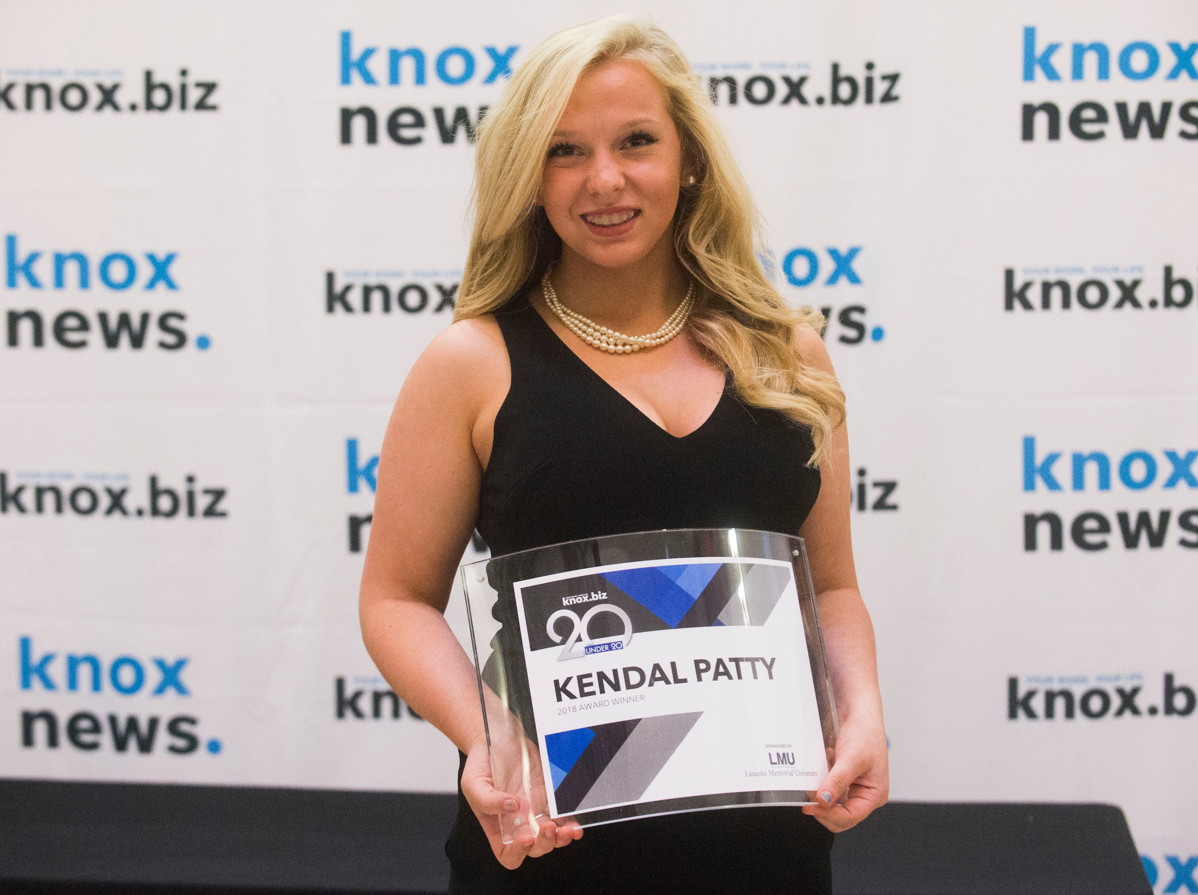 Kendal Patty, 20 under 20 award recipient.