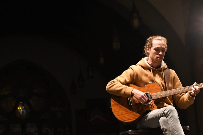Knoxville native David Francisco performs during a Sofar Sounds show at St. Johns Cathedral in downtown Knoxville on Nov. 8, 2018.