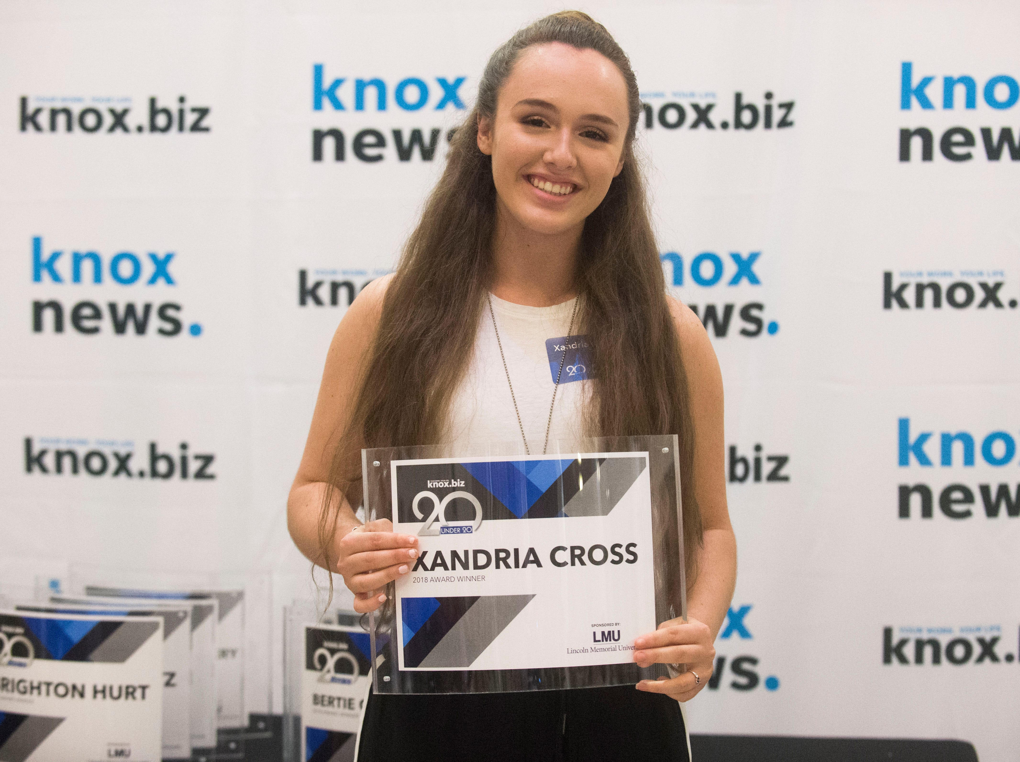 Xandria Cross, 20 under 20 award recipient.