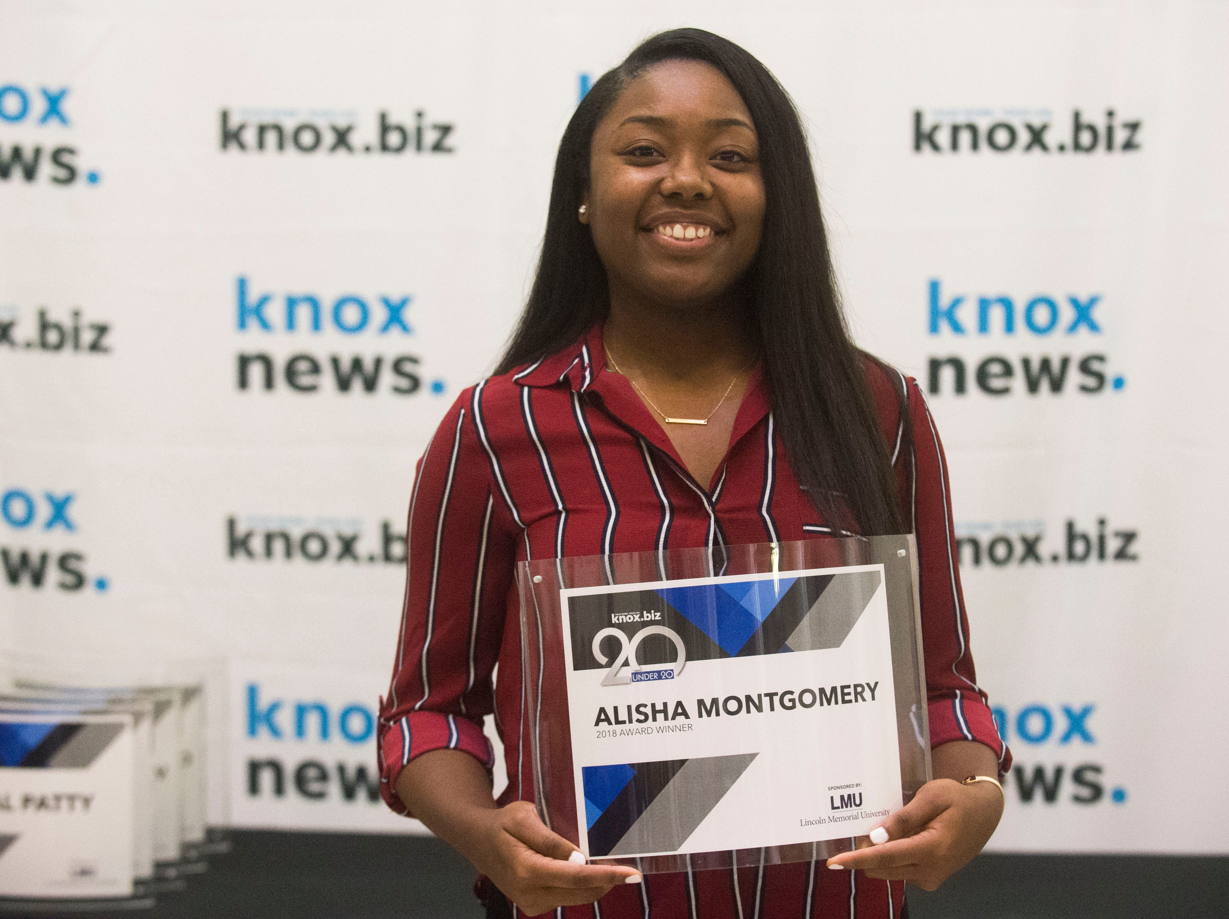 Alisha Montgomery, 20 under 20 award recipient.
