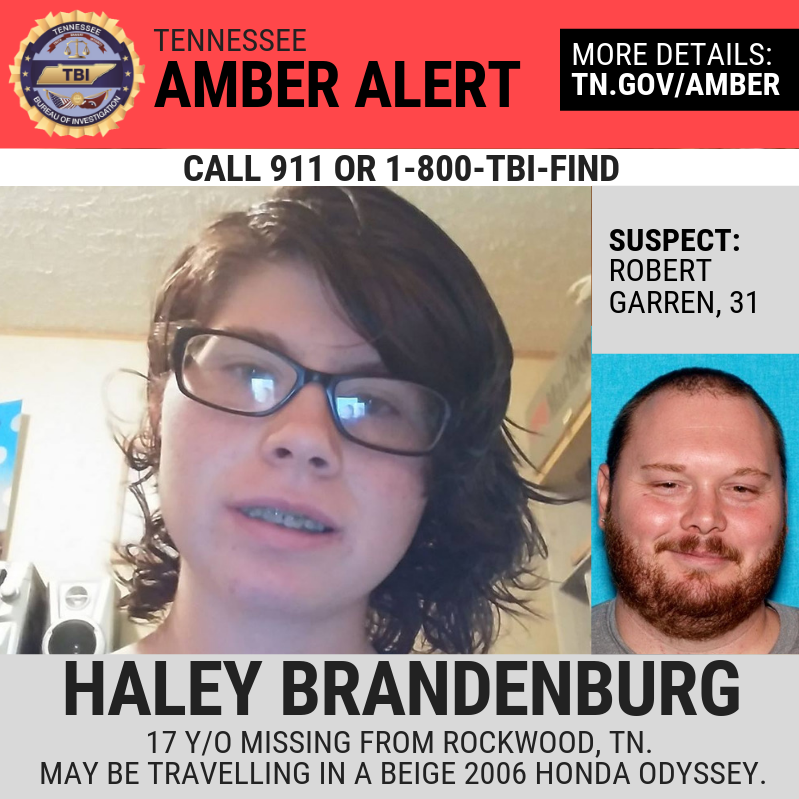 Amber Alert canceled; man in custody after Roane County teen found