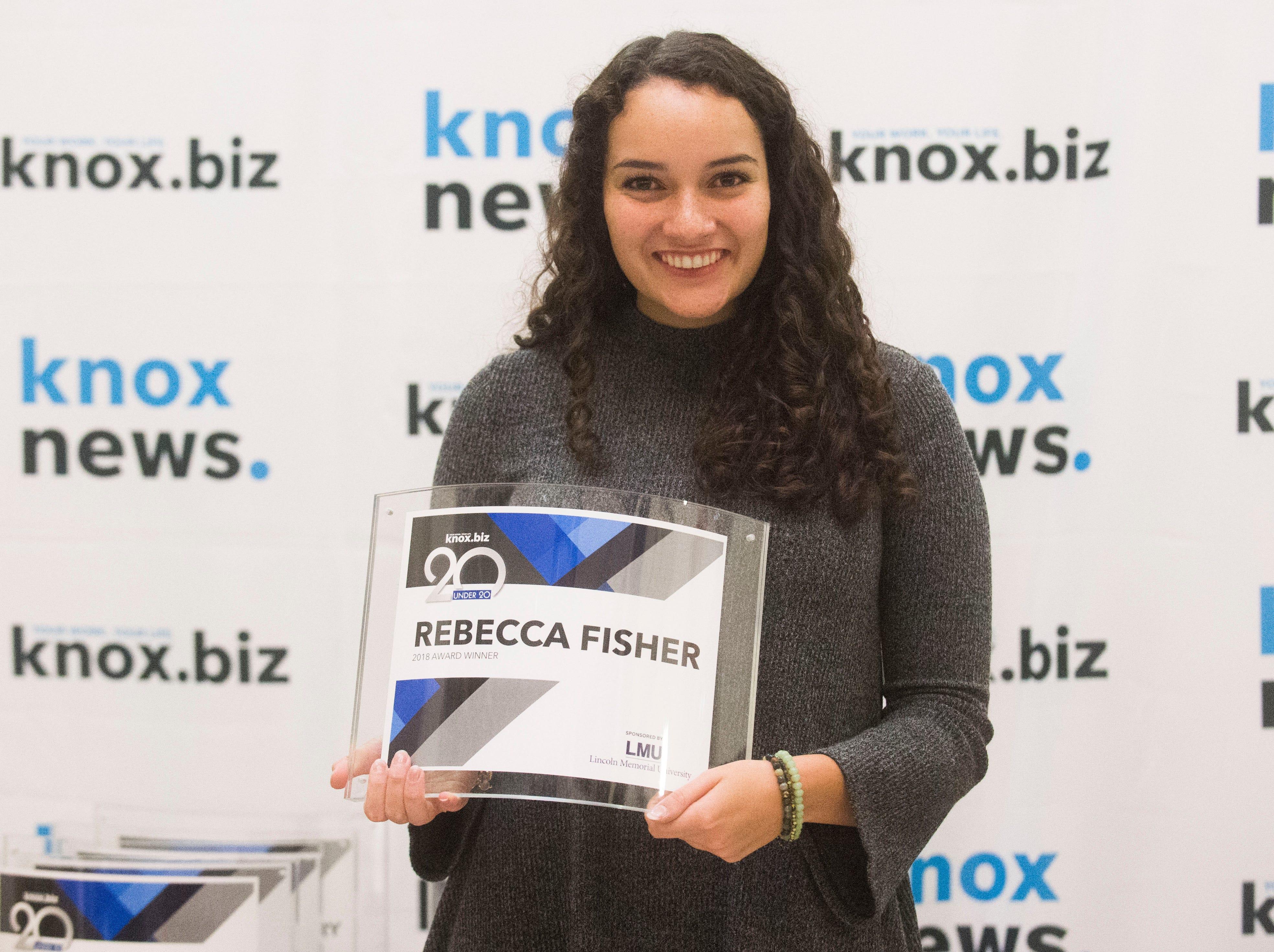Rebecca Fisher, 20 under 20 award recipient.