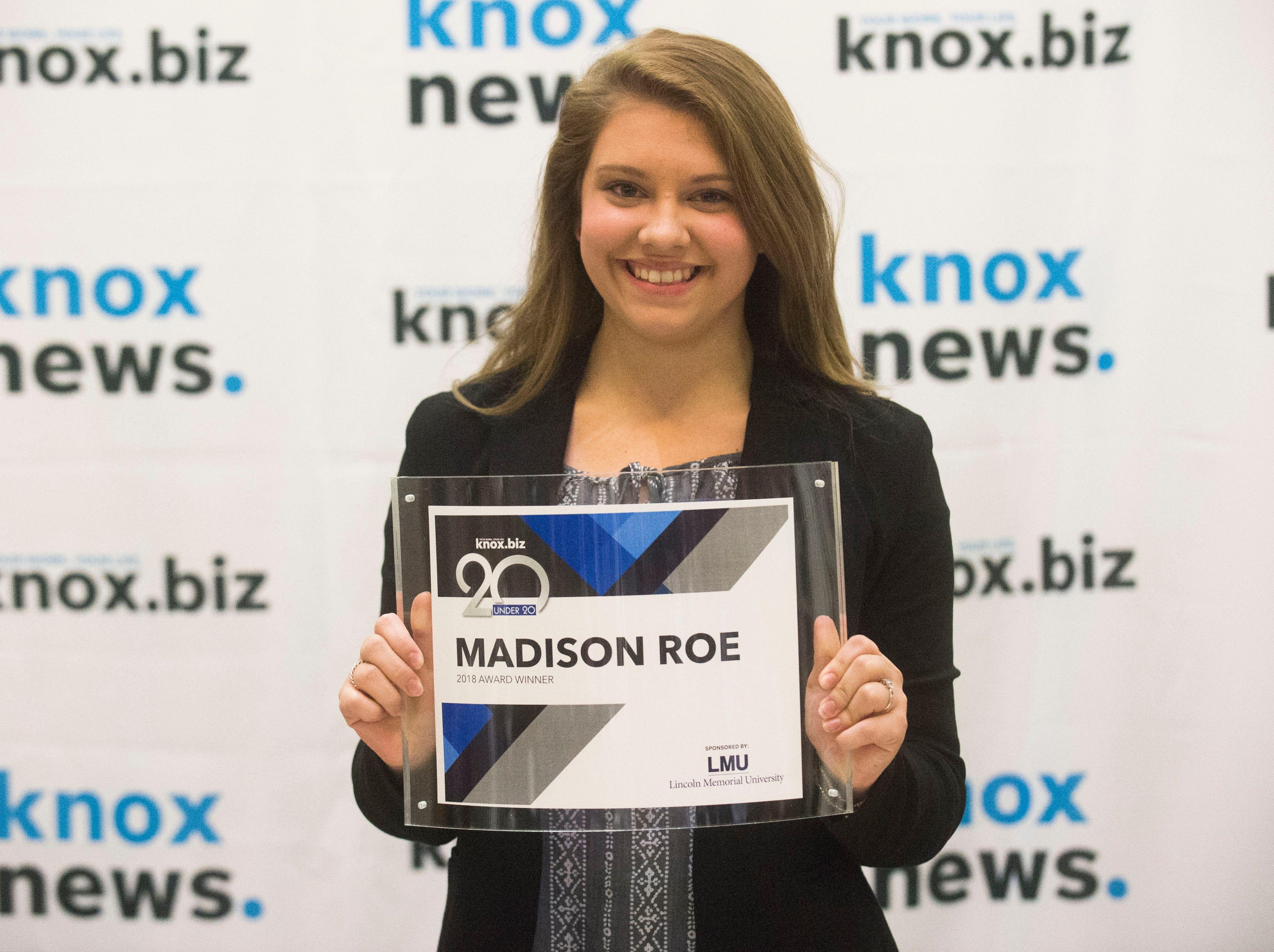 Madison Roe, 20 under 20 award recipient.