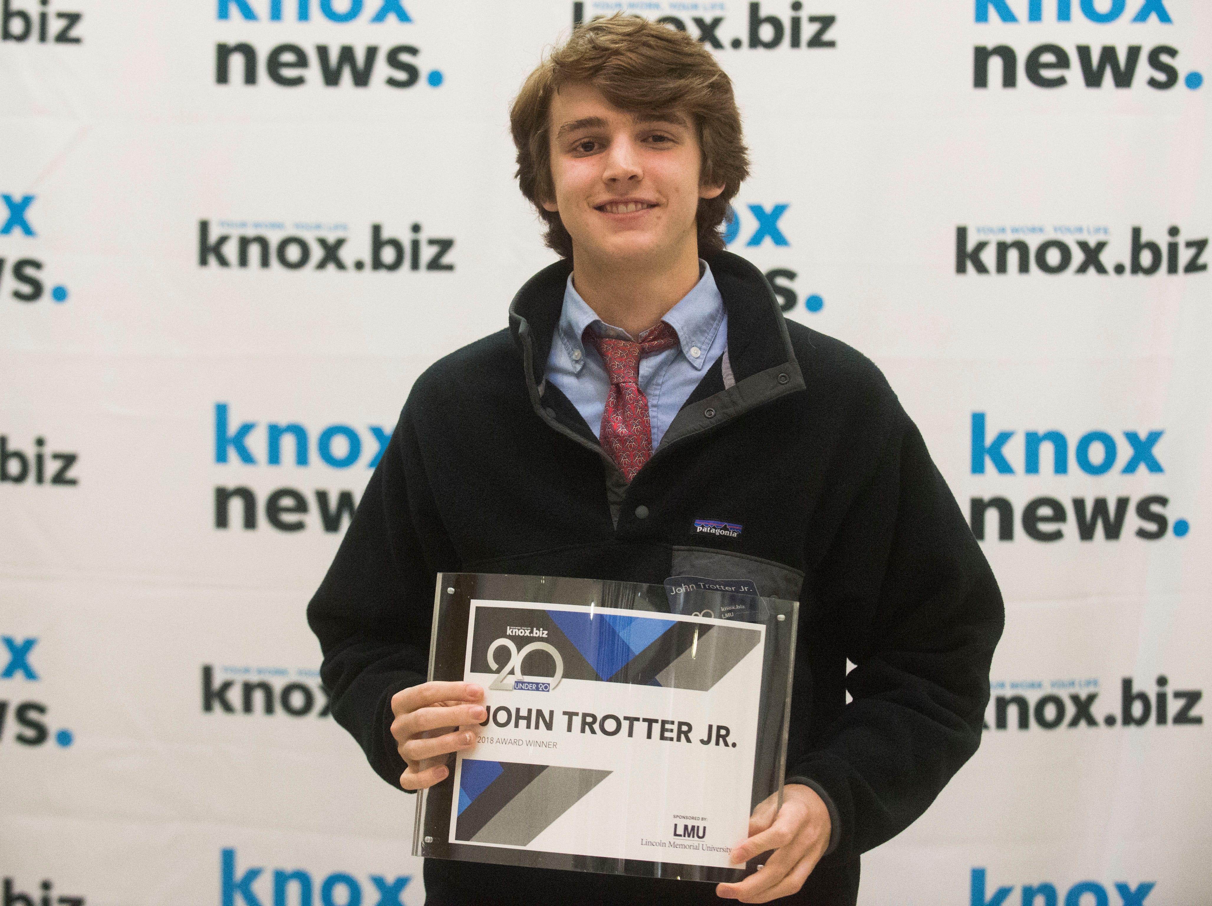 John Trotter Jr., 20 under 20 award recipient.