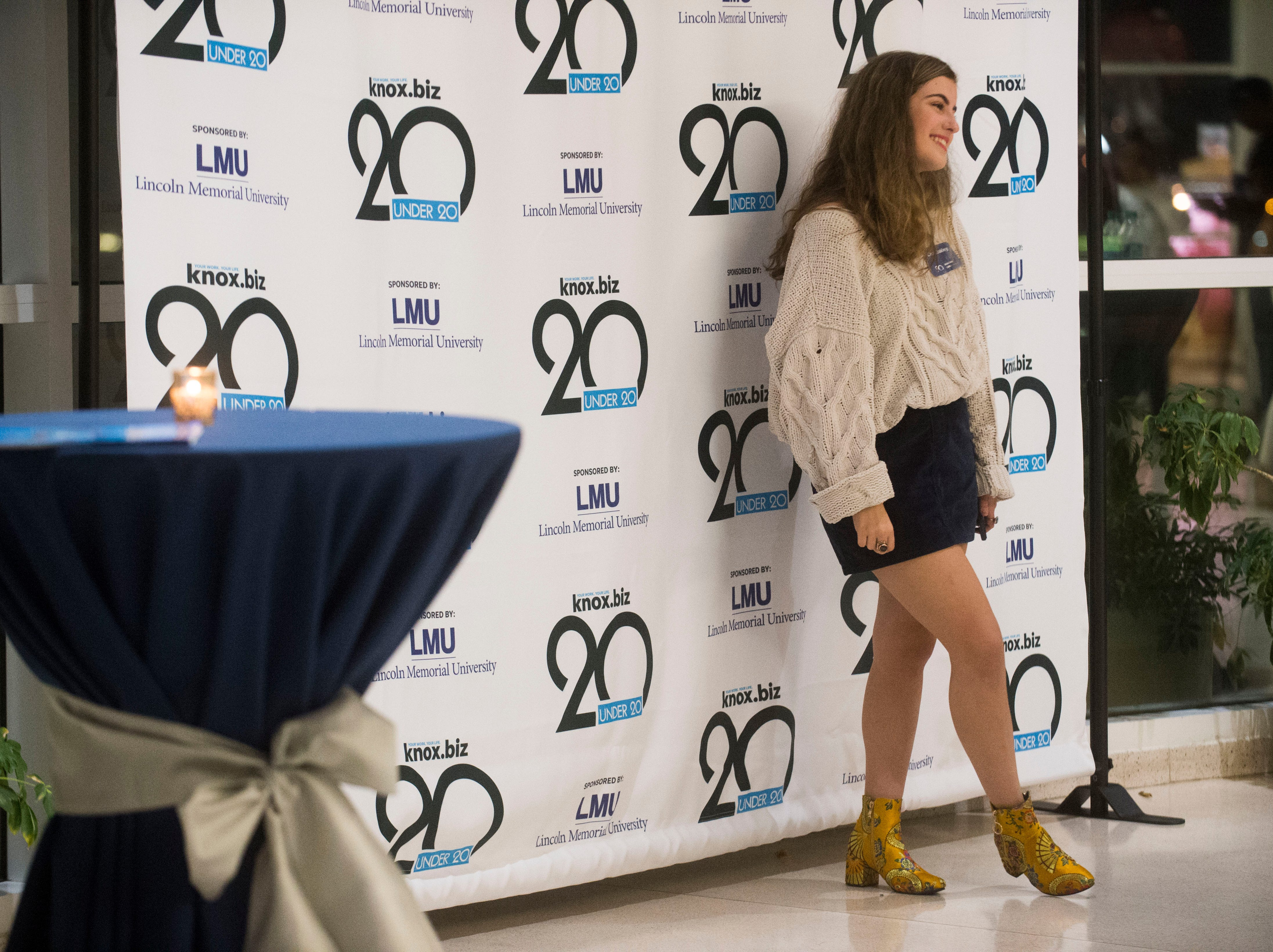 Cece Coakley, a 20 under 20 award winner, poses for a photo at the Women's Basketball Hall of Fame Thursday, Nov. 8, 2018.