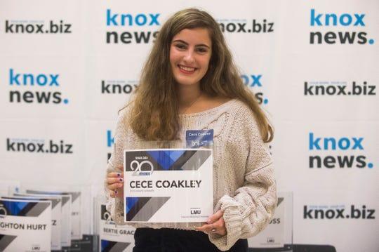 Cece Coakley, 20 under 20 award recipient.