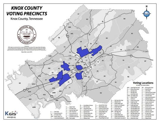 Knox County Tennessee Map.Election 2018 Is Knox County Slowly Turning Blue
