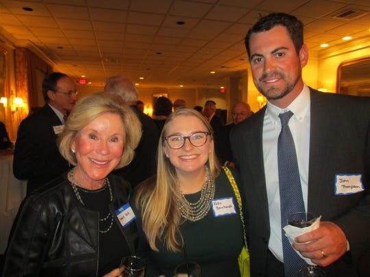 Joanie Hill, Katie Bernhardt and John Thompson