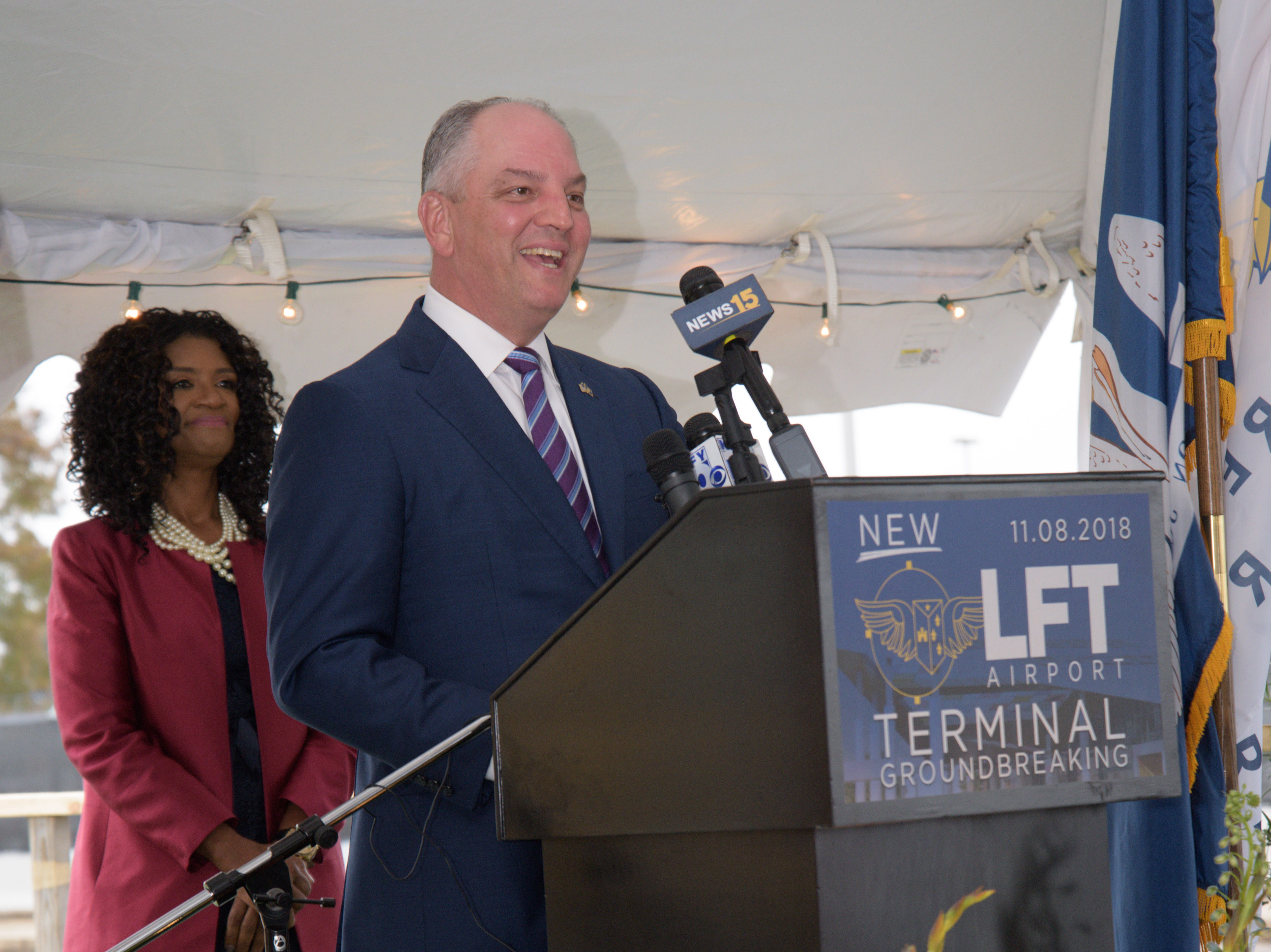 Lafayette Regional Airport hosts a groundbreaking ceremony Thursday, Nov. 8, 2018, to celebrate its upcoming terminal.