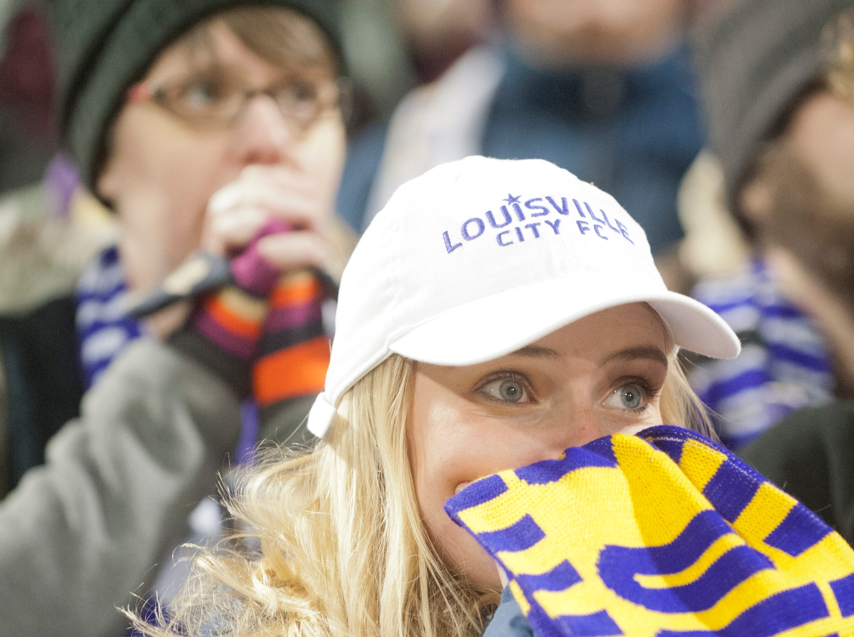 A Louisville City fan looks concerned as her team takes on the Phoenix Rising FC for the 2018 USL Cup.November 08, 2018